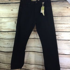 NWT PJ Mark Jeans 36/34 loose straight fit black